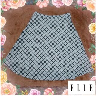エル(ELLE)のELLE ひざ丈 フレア スカート(´- `*)(ひざ丈スカート)