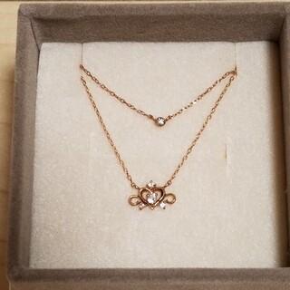 サマンサティアラ(Samantha Tiara)の新品 サマンサティアラ 10金 ダイアモンド ネックレス ピンクゴールド(ネックレス)