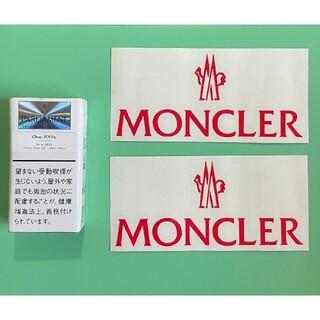MONCLER - MONCLER モンクレ 切り文字ステッカー 防水仕様 アースカラー カスタム