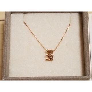 サマンサティアラ(Samantha Tiara)の18金 ダイアモンド 王冠ネックレス ピンクゴールド(ネックレス)