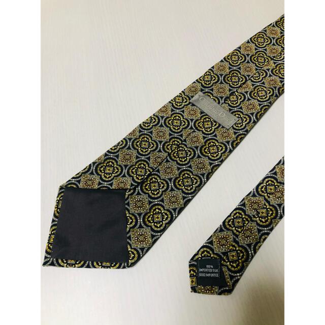 Christian Dior(クリスチャンディオール)のDior ディオール ネクタイ  総柄  黒 金 ChristianDior メンズのファッション小物(ネクタイ)の商品写真