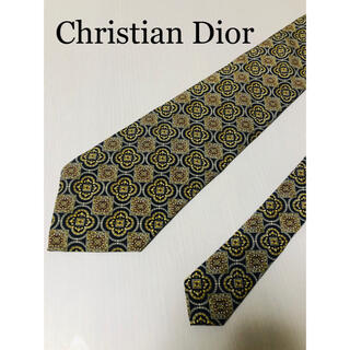 Christian Dior - Dior ディオール ネクタイ  総柄  黒 金 ChristianDior