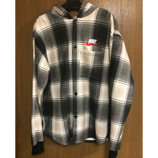 Supreme - Supreme×NIKE plaid hooded sweatshirt