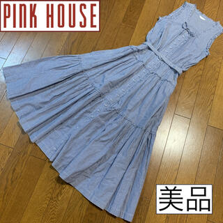 PINK HOUSE - 美品♡PINK HOUSE ピンクハウス♡マキシワンピース ティアード チェック