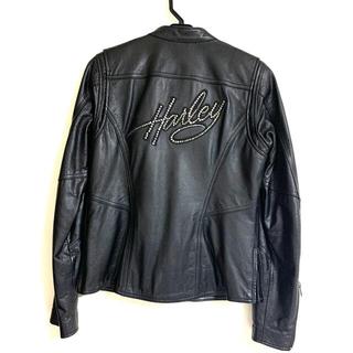 ハーレーダビッドソン(Harley Davidson)の本革 Harley-Davidson レディース XS ライダース ジャケット(装備/装具)