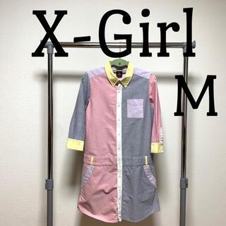 X-girl - X-girl シャツワンピース 韓国ファッション