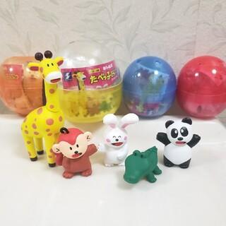 BANDAI - たべっ子どうぶつ ガチャ フィギュア コンプリートセット キリン うさぎ パンダ
