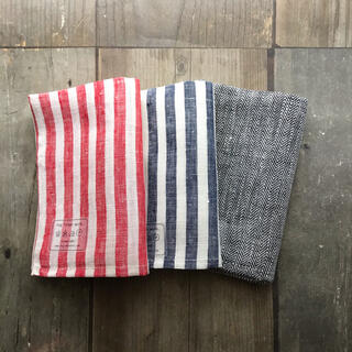 新品♪fog linen work /リネンキッチンクロス 3枚セット