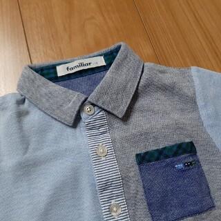 familiar - ファミリア シャツ 美品 110 100 車 チェック