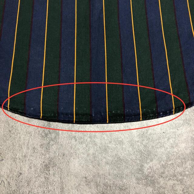TOMMY HILFIGER(トミーヒルフィガー)のトミーヒルフィガー☆オールド刺繍ロゴクラシックマルチストライプシャツ 90s メンズのトップス(シャツ)の商品写真