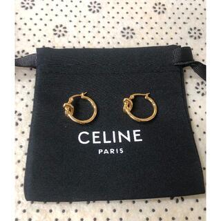 celine - CELINE ☆ ノット スモールフープ ピアス ☆ GOLD
