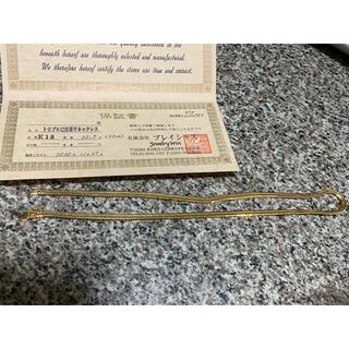 【★超美品超激安即決】K18 トリプル12面喜平ネックレス 30.7g 50cm