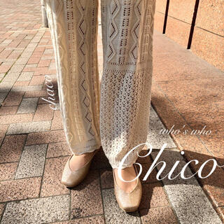 who's who Chico - 人気🎡¥7590【Chico】透かし柄ロングパンツ