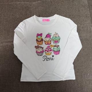 ロニィ(RONI)の135cm RONI カップケーキ柄ロンT(Tシャツ/カットソー)