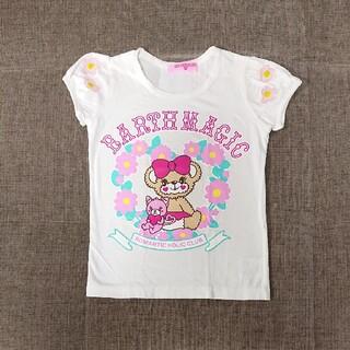 アースマジック(EARTHMAGIC)の130cm アースマジック袖デイジー柄マフィーTシャツ(Tシャツ/カットソー)