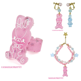 Angelic Pretty - Jelly Candy Toys プラアクセ3点セット