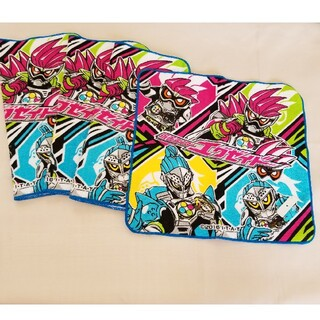 バンダイ(BANDAI)の仮面ライダー エグゼイド タオルハンカチ 4枚 新品未使用 戦隊 キャラクター(タオル/バス用品)