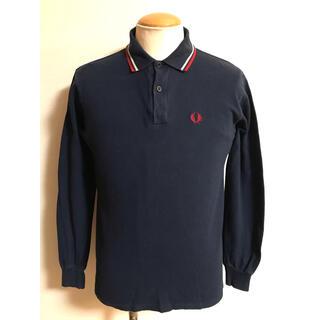 フレッドペリー(FRED PERRY)のイギリス製 フレッドペリー 長袖 ポロシャツ S ネイビー xpv (ポロシャツ)