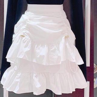 lilLilly - lillilly  フリルギャザーミニスカート