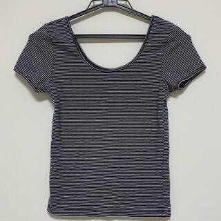 FOREVER 21 - クロップド丈 ボーダーTシャツ