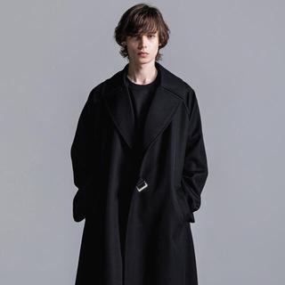 リチウムオム(LITHIUM HOMME)の綾野剛さん着用 リチウム タイロッケンコート サイズ48 ブラック(トレンチコート)