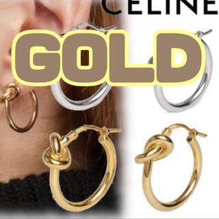 CELINE セリーヌ セリーヌ風 ノットピアス デザイン ゴールド