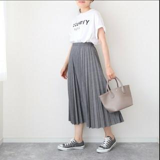 UNIQLO - ユニクロ アコーディオンプリーツ ロングスカート グレンチェック Lサイズ