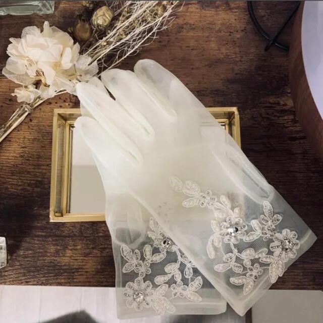 ウェディンググローブ レディースのファッション小物(手袋)の商品写真