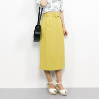 REDYAZEL -  ベルト付タックサイドタイトスカート