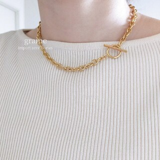 UNITED ARROWS - 【NEW】stainless necklace 40cm / gold