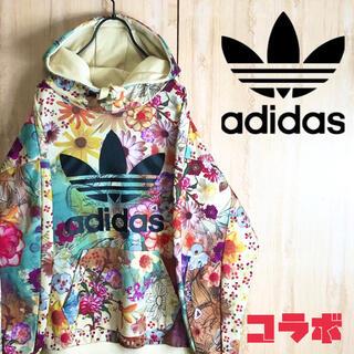 adidas - adidas アディダス ファーム コラボ パーカー マルチカラー 花束 レア