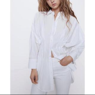 ZARA - ZARA ザラ ポプリン 加工シャツ ホワイト 美品