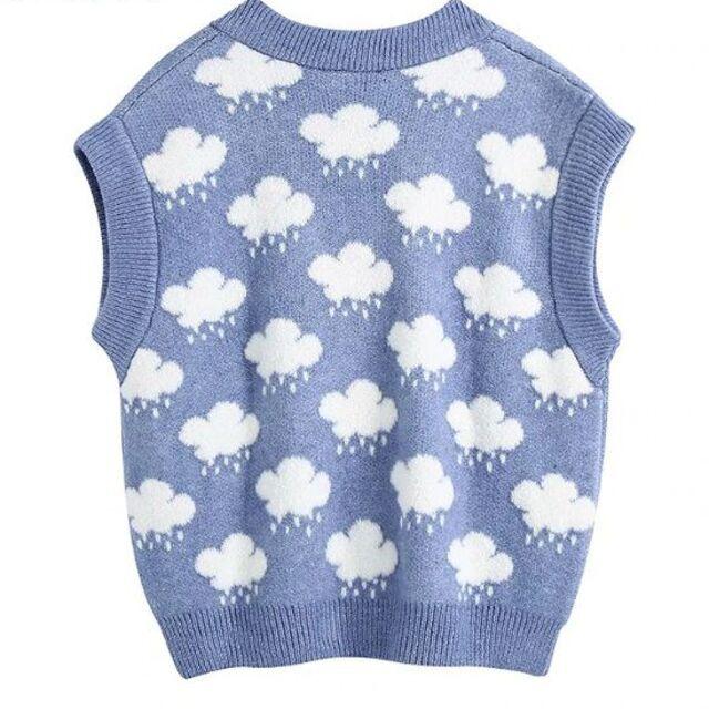 ZARA(ザラ)の雲柄ニットベスト レディースのトップス(ニット/セーター)の商品写真