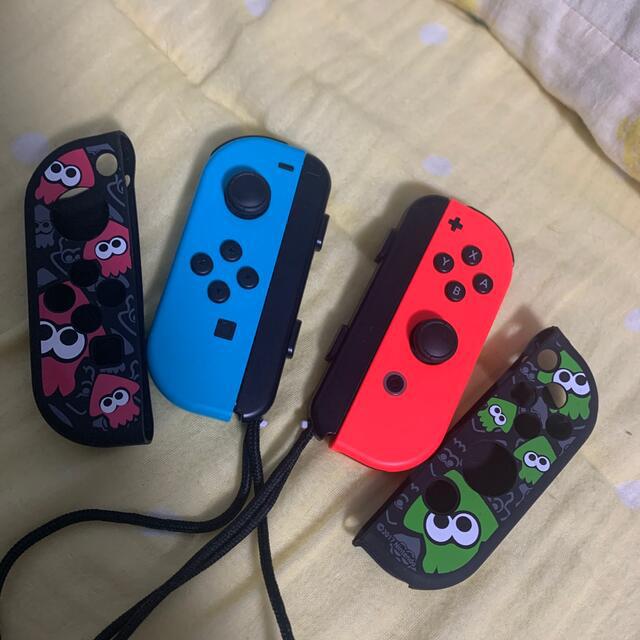 Nintendo Switch(ニンテンドースイッチ)のSwitch 純正ジョイコン & カバーセット 任天堂 エンタメ/ホビーのゲームソフト/ゲーム機本体(その他)の商品写真