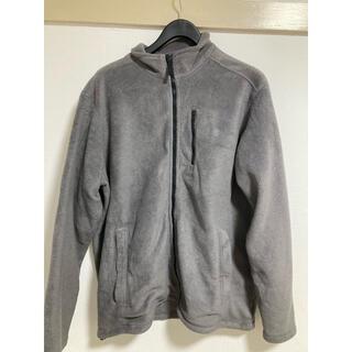 ティンバーランド(Timberland)の激レア 海外古着 ティンバーランド フリースジャケット ロゴ刺繍 グレー 2XL(ナイロンジャケット)