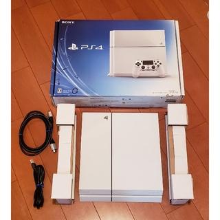 プレイステーション4(PlayStation4)のPS4 本体 500GB CUH-1100A 動作確認済み プレステ4 ホワイト(家庭用ゲーム機本体)