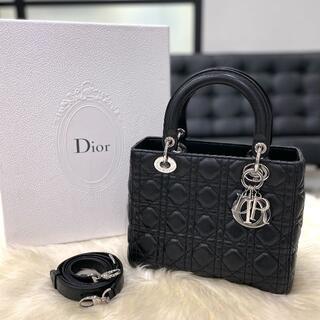 Christian Dior - 美品 クリスチャンディオール レディディオール ミディアム ブラック