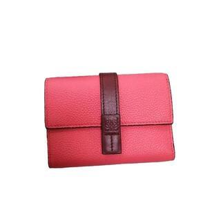 celine - Loewe ソフトグレインカーフ*Wallet Smallバイカラー縦長財布