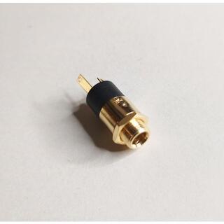 3.5mm ステレオ ゴールド ジャック ヘッドフォン パネル取り付け(エフェクター)