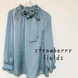 ストロベリーフィールズ(STRAWBERRY-FIELDS)のMissさま専用 サテンリボンブラウス strawberry  fields(シャツ/ブラウス(長袖/七分))
