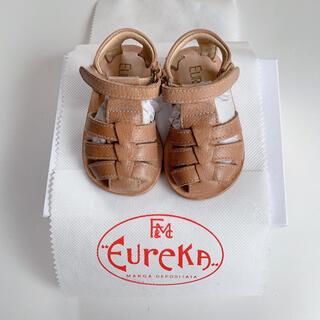 キャラメルベビー&チャイルド(Caramel baby&child )のEUREKA エウレカ レザーサンダル  Sabbia サイズ18(サンダル)