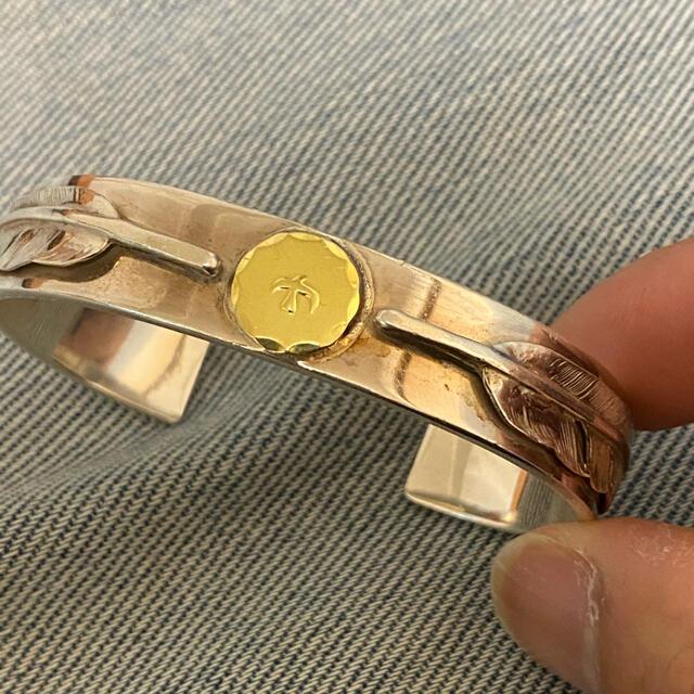 goro's(ゴローズ)のゴローズ goros ダブルフェザーブレス バングル キムタク 私物 全金 先金 メンズのアクセサリー(ブレスレット)の商品写真