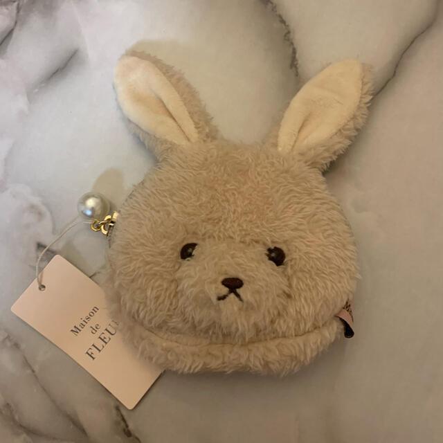 Maison de FLEUR(メゾンドフルール)のFLEUR Rabbit MaisondeFLEURフルールラビットコインケース レディースのファッション小物(ポーチ)の商品写真