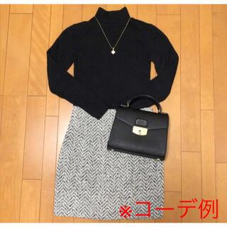 アンティックラグ(antic rag)の【美品】antic rag ツイード/台形ミニスカート(ミニスカート)