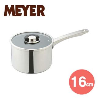 MEYER  マイヤー スターシェフ 片手鍋 16cm  ガラス蓋付き