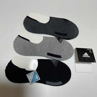 adidas - アディダス 滑り止め加工 靴下 ソックス スニーカーソックス 3足セット