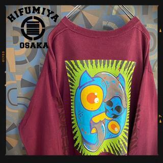 ココロブランド(COCOLOBLAND)のCOCOLO BLAND 長袖Tシャツ ロンT えんじ バックプリント 袖ロゴ(Tシャツ/カットソー(七分/長袖))