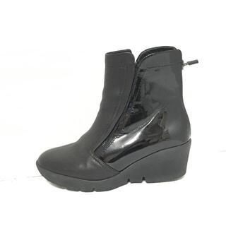 フィットフィット(fitfit)のフィットフィット 24.5 レディース - 黒(ブーツ)