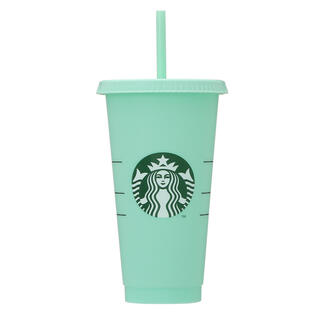 スターバックスコーヒー(Starbucks Coffee)のスタバ カラーチェンジングリユーザブルコールドカップグリーン709ml(タンブラー)