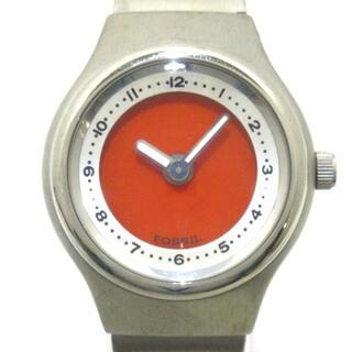 フォッシル(FOSSIL)のフォッシル JR-7919 レディース オレンジ(腕時計)